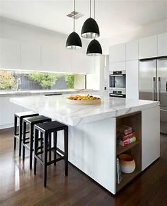 Ilot De Cuisine : couleur cuisine la cuisine blanche de style contemporain ideeco ~ Teatrodelosmanantiales.com Idées de Décoration