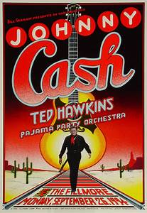 Johnny Cash Poster : johnny cash poster from fillmore auditorium sep 26 1994 wolfgang 39 s ~ Buech-reservation.com Haus und Dekorationen