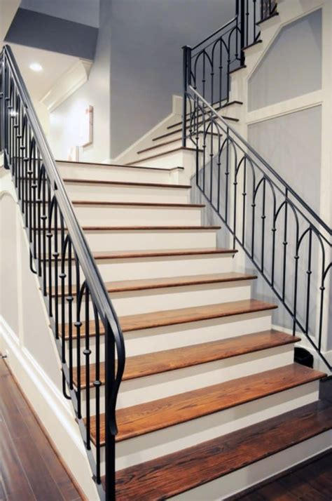 wrought iron handrail wrought iron stair railing artistic stairs 1193