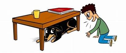 Dog Under Table Clipart Child Accident Illustration