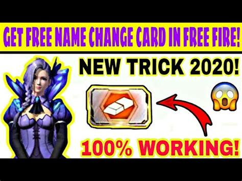 You can select a name change card and click the 'change' button. How To Get Free Name Change Card In Free Fire || Free Fire ...