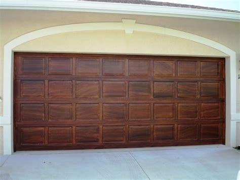 faux wood garage doors wood graining doors