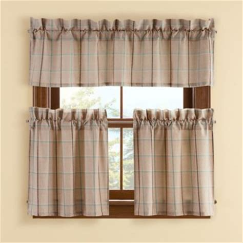 buy pipeline 45 inch window curtain tier pair in from bed bath beyond