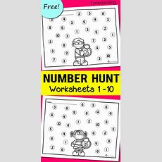 Number Recognition Worksheets  Totschooling  Toddler, Preschool, Kindergarten Educational