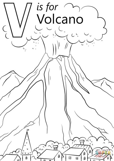 volcano coloring page  printable coloring pages