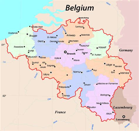 maps  belgium detailed map  belgium  english