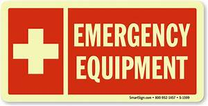 emergency equipment glow signs fire and emergency signs With kitchen cabinets lowes with transparent label stickers