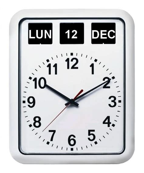 horloge murale radio pilotee avec date horloges personne agee 1001 pendules
