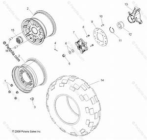 Polaris Side By Side 2013 Oem Parts Diagram For Wheels  Rear
