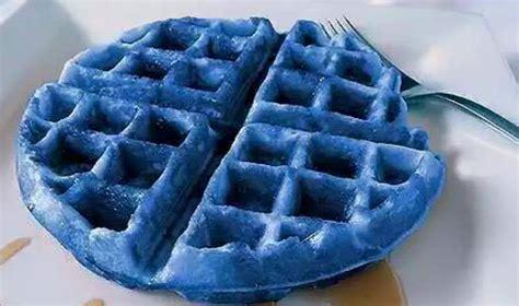blue colored waffle my friend s a blue waffle a few months ago