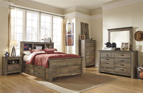 Bookcase Storage Bed by Rustic Look Bookcase Bed With Bed Storage By