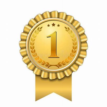 Winner Award Number Ribbon Gold Icon Medal