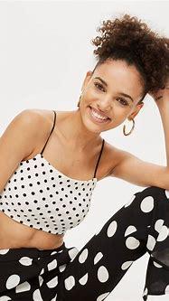 Polka Dot Bralet   Bralet, Tops women blouses, Women