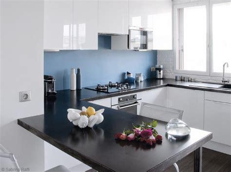 cuisine couleur blanche cuisine blanche mur bleu cuisine murs