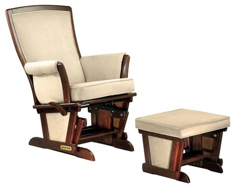 Shermag Rocking Chair With Ottoman by Shermag Glider And Ottoman Set Buckwheat Nutmeg