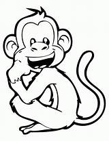 Monkey Coloring Laughing Drawing Pages Monkeys Printable Cartoon Drawings Books Colornimbus Adult Line Apen Animal Getdrawings Colouring Chimpanzee Animals Sheets sketch template