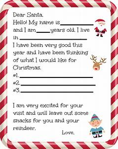 free dear santa letter printable farmer39s wife rambles With a letter to santa for free