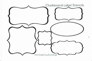 Free Printable Stencils to Make Vinyl Chalkboard Labels...