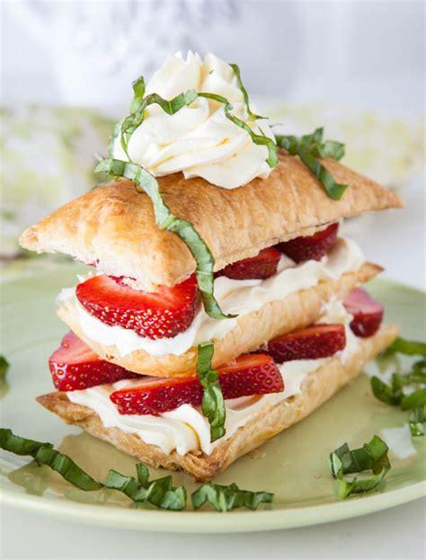 Strawberry Basil Napoleons - Cooks Network