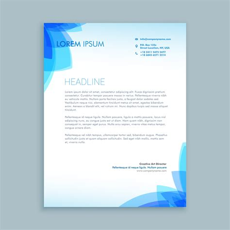 Letter Template by Creative Business Letter Template Vector Design