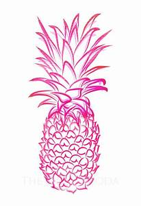 Pink Pineapple Giclee 2 by thepinkpagoda on Etsy, $30 00