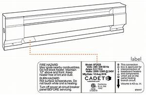 Wiring Diagram For Cadet Electric Baseboard Heater