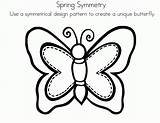 Symmetry Butterfly Coloring Symmetrical Worksheets Drawing Sheets Clipart Printable Radial Template Activity Elementary Draw Activities Sketch Amc Coloringhome Grade Freebie sketch template