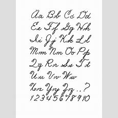 Best 25+ Cursive Alphabet Ideas On Pinterest  Cursive, Handwriting Alphabet And Cursive Fonts