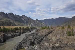 Mountain, Landscape, River, Dark, Cliffs, Stock, Photo