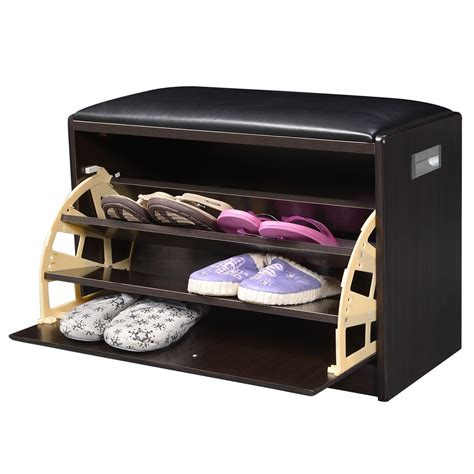 entryway bench with shelf equipment shoe storage cabinet bench ottoman pu
