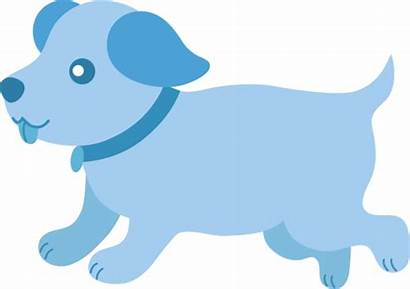 Puppy Dog Clipart Pink Running Clip Cartoon