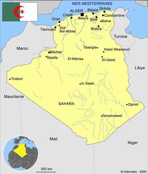 Carte Algerie Villes alg 233 rie carte des villes voyages cartes