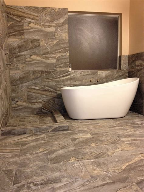 Emser Tile - Eurasia Noce   Beautiful tile bathroom ...
