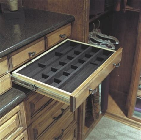 closet drawers for jewelry and accessories traditional