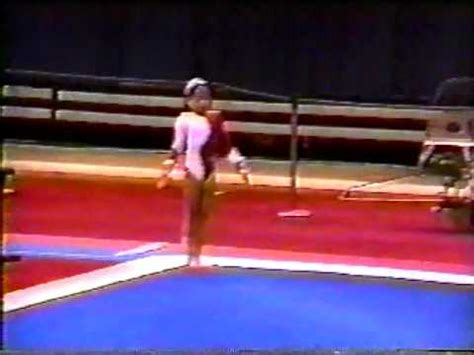 dominique moceanu 1993 gymnastics jr nationals floor