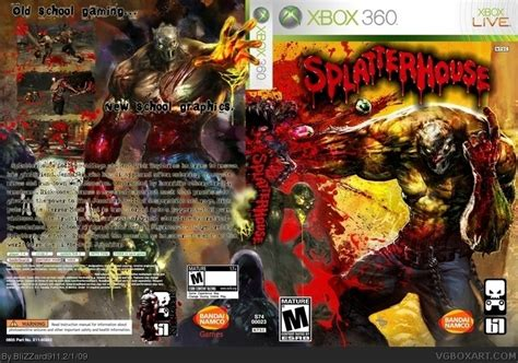 Splatterhouse 2009 Xbox 360 Box Art Cover By Blizzard911