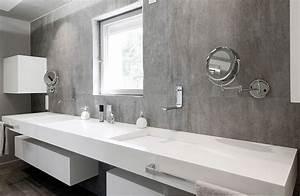 amenagement integral d39une maison en v korr v korr With salle de bain design avec plan vasque salle de bain castorama