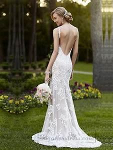 elegant straps sheath lace over wedding dress with low With sheath wedding dress low back