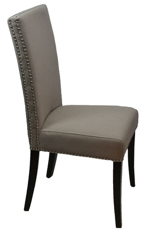 high back fabric dining room chair with row