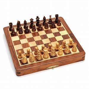 7 Inch Wood Magnetic Folding Chess Set Wood Expressions