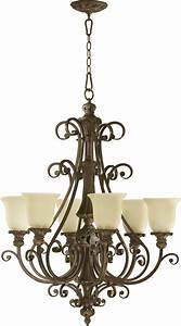 Quorum lighting  fulton traditional chandelier qr