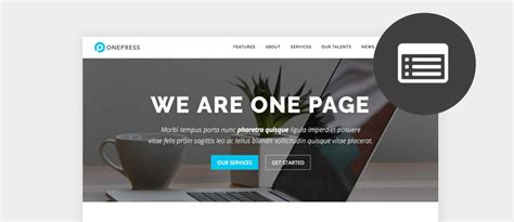 Wp One Page Themes Best Free One Page Themes 2017