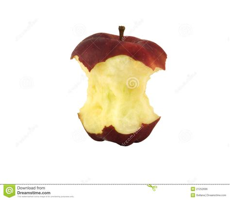 Red apple core stock photo. Image of diet, apples, bite ...