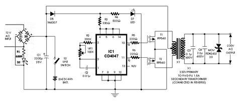 berbagi ilmu rangkaian inverter 12v dc to 220v ac 100 watt