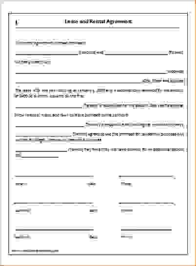 simple  page lease agreement lease agreement rental