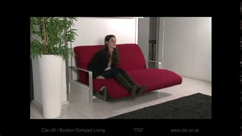 ito sofa wall bed clei uk ito sofa wall bed system youtube