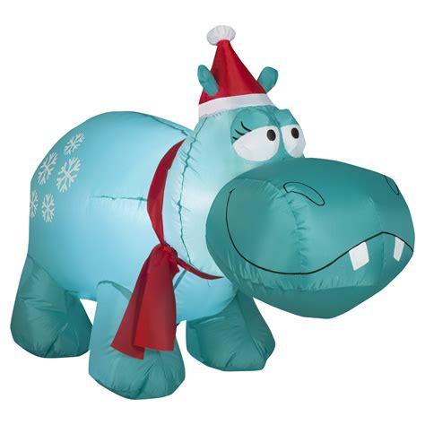 trim  home airblown hippo lawn decoration