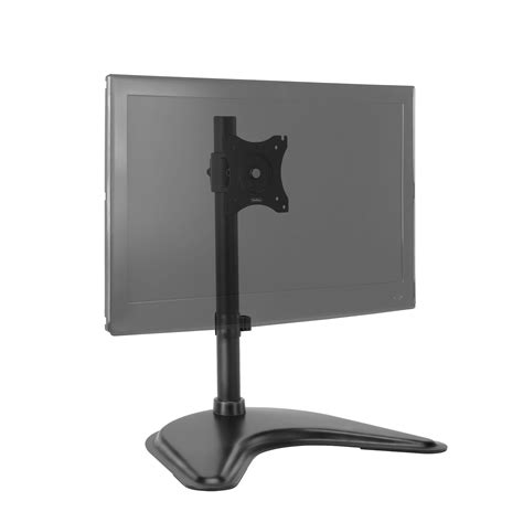 desk tv mount vonhaus single monitor mount desk stand for 13 27 screen