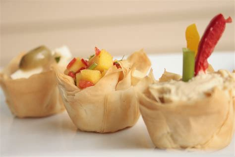 finger food appetizers salt pepper chili phyllo cup appetizers a gourmet finger food