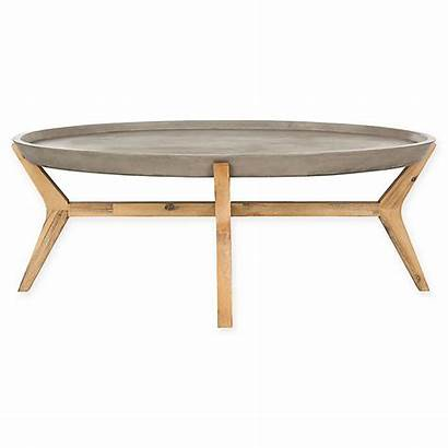 Coffee Table Oval Concrete Modern Safavieh Outdoor